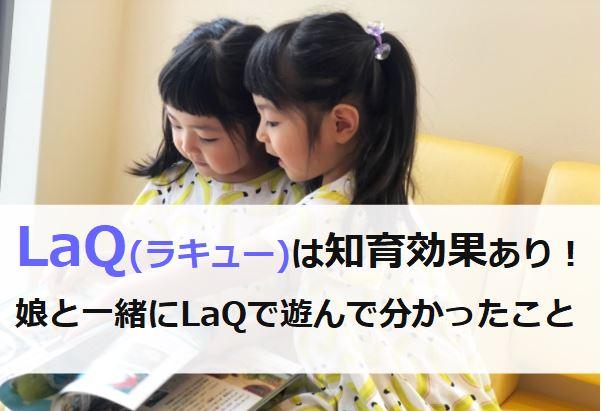 Laqの知育効果と遊んだ感想