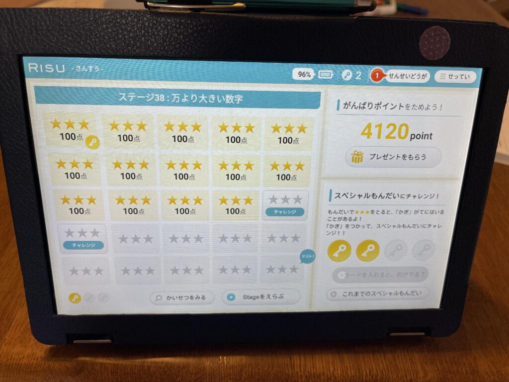 RISU算数ステージ内容